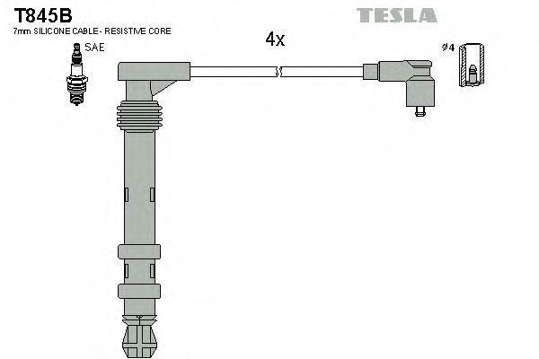 Провода высоковольтные комплект TESLA T845B