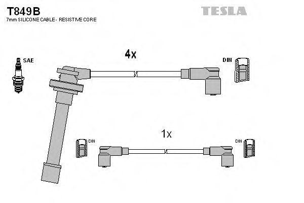 Провода высоковольтные комплект TESLA T849B