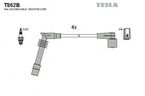 Провода высоковольтные комплект TESLA T862B