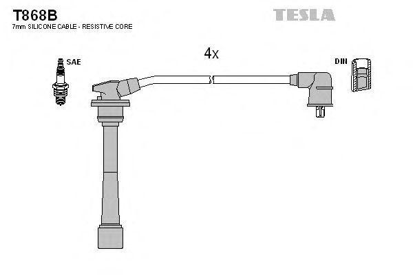 Провода высоковольтные комплект TESLA T868B