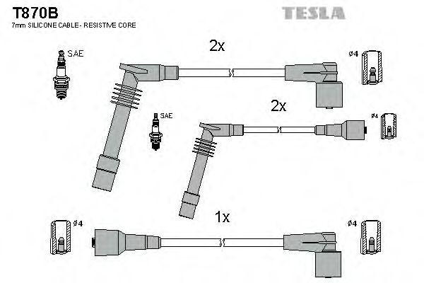 Провода высоковольтные комплект TESLA T870B