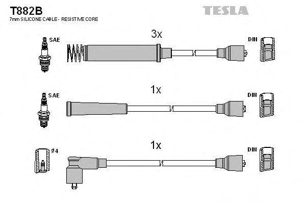 Провода высоковольтные комплект TESLA T882B