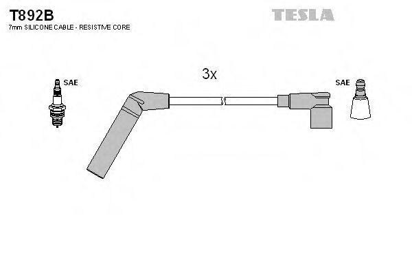 Провода высоковольтные комплект TESLA T892B