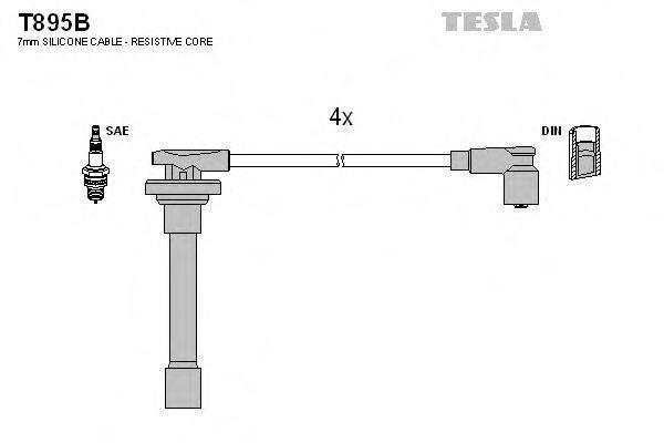Провода высоковольтные комплект TESLA T895B