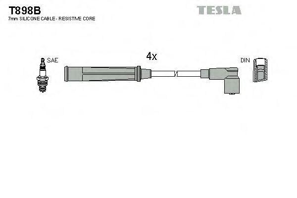 Провода высоковольтные комплект TESLA T898B