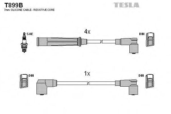 Провода высоковольтные комплект TESLA T899B