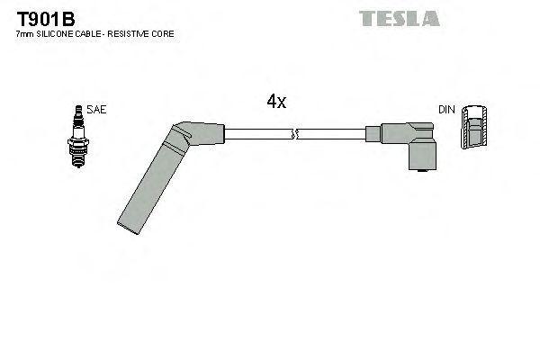 Провода высоковольтные комплект TESLA T901B