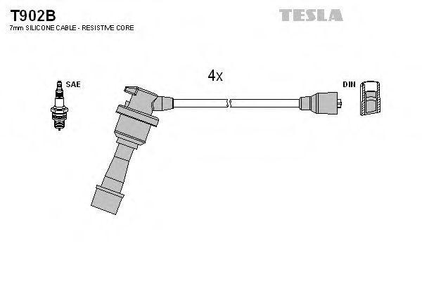 Провода высоковольтные комплект TESLA T902B