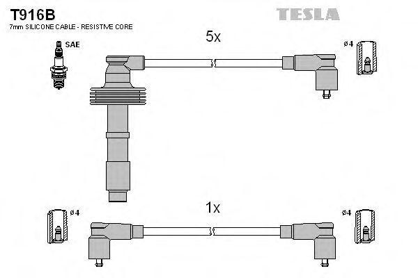 Провода высоковольтные комплект TESLA T916B