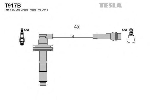 Провода высоковольтные комплект TESLA T917B
