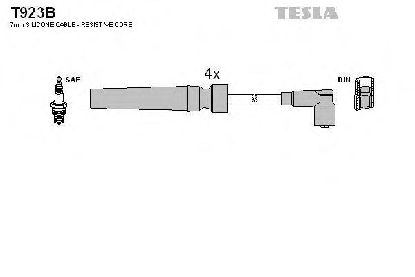 Провода высоковольтные комплект TESLA T923B