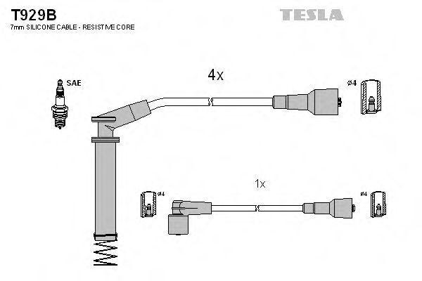Провода высоковольтные комплект TESLA T929B