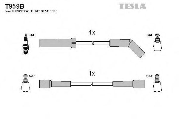 Провода высоковольтные комплект TESLA T959B