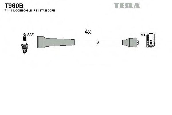 Провода высоковольтные комплект TESLA T960B