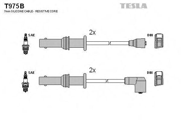 Провода высоковольтные комплект TESLA T975B