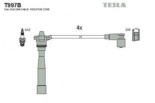 Провода высоковольтные комплект TESLA T997B