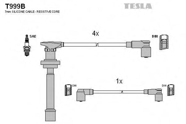 Провода высоковольтные комплект TESLA T999B