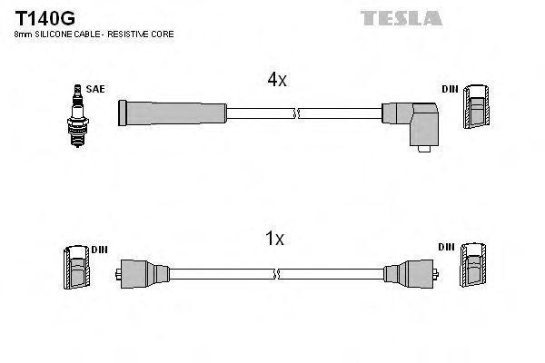 Провода высоковольтные комплект TESLA T140G