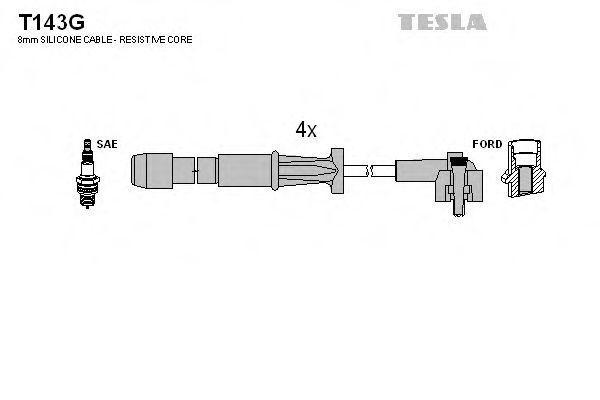 Провода высоковольтные комплект TESLA T143G