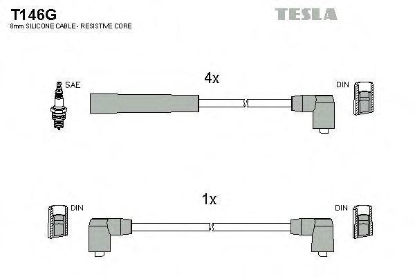 Провода высоковольтные комплект TESLA T146G