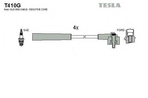 Провода высоковольтные комплект TESLA T410G