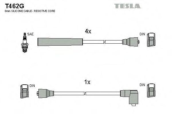 Провода высоковольтные комплект TESLA T462G