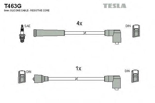 Провода высоковольтные комплект TESLA T463G