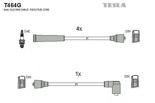 Провода высоковольтные комплект TESLA T464G