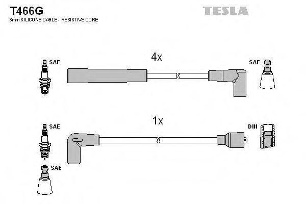 Провода высоковольтные комплект TESLA T466G