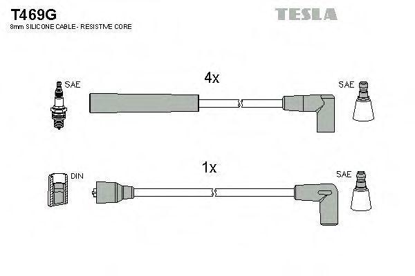 Провода высоковольтные комплект TESLA T469G