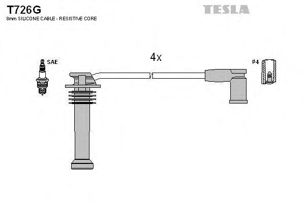 Провода высоковольтные комплект TESLA T726G