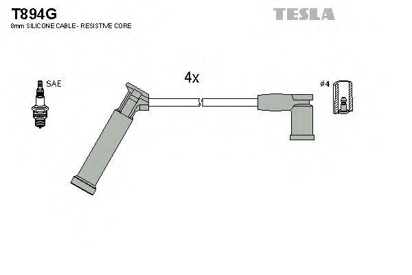 Провода высоковольтные комплект TESLA T894G