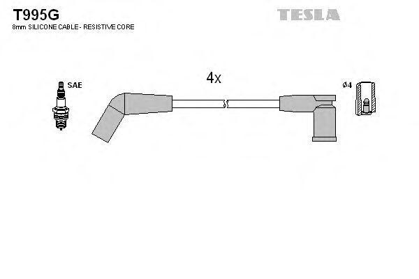 Провода высоковольтные комплект TESLA T995G
