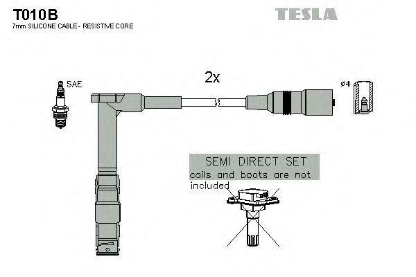 Провода высоковольтные комплект TESLA T010B
