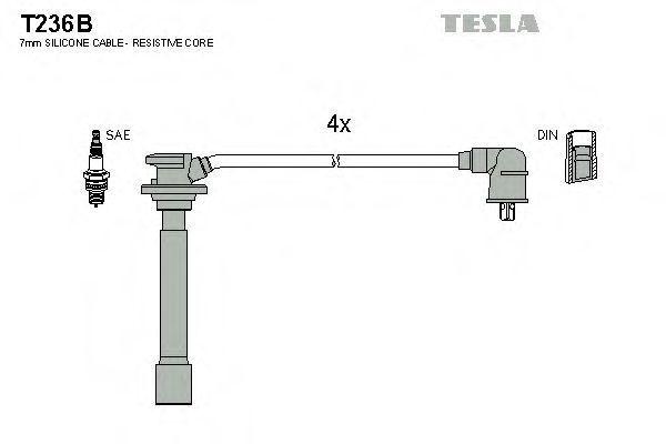 Провода высоковольтные комплект TESLA T236B