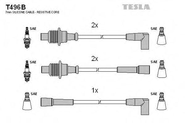 Провода высоковольтные комплект TESLA T496B