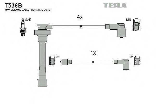 Провода высоковольтные комплект TESLA T538B