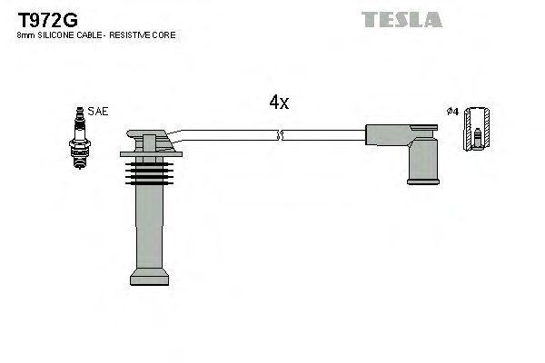 Провода высоковольтные комплект TESLA T972G