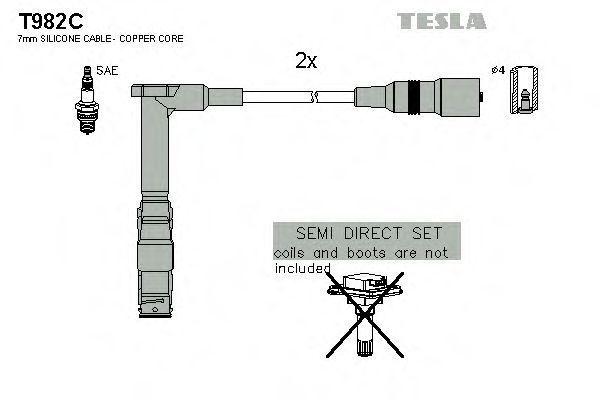Провода высоковольтные комплект TESLA T982C