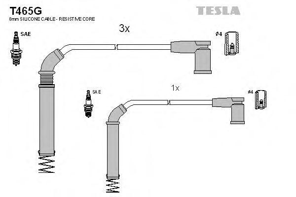 Провода высоковольтные TESLA T465G