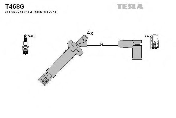 Провода высоковольтные комплект TESLA T468G