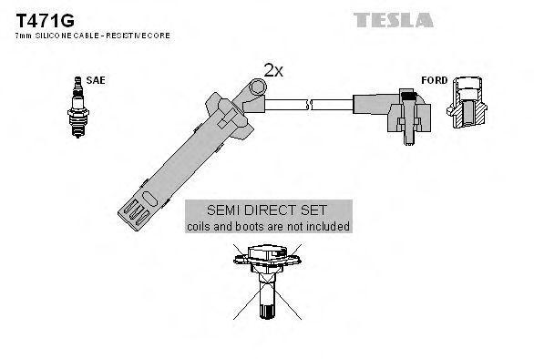 Провода высоковольтные комплект TESLA T471G