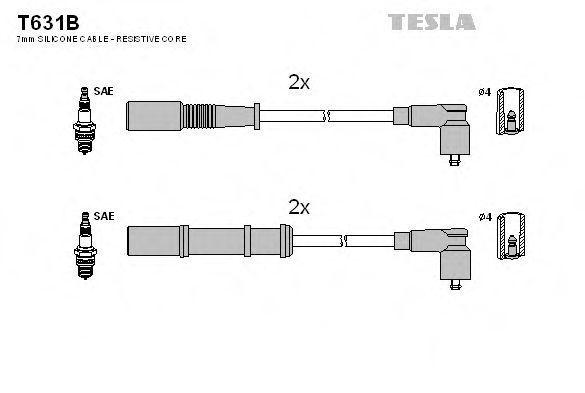 Провода высоковольтные комплект TESLA T631B