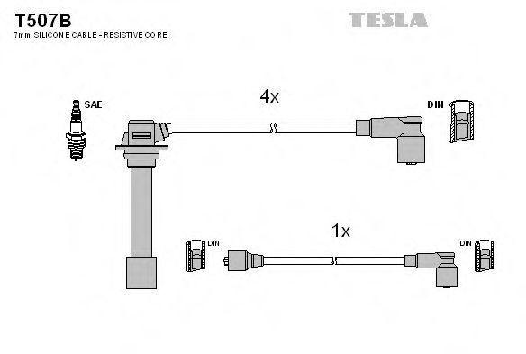 Провода высоковольтные TESLA T507B