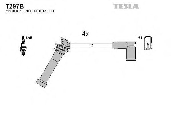 Провода высоковольтные комплект TESLA T297B