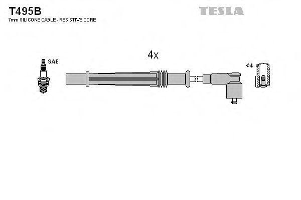 Провода высоковольтные комплект TESLA T495B