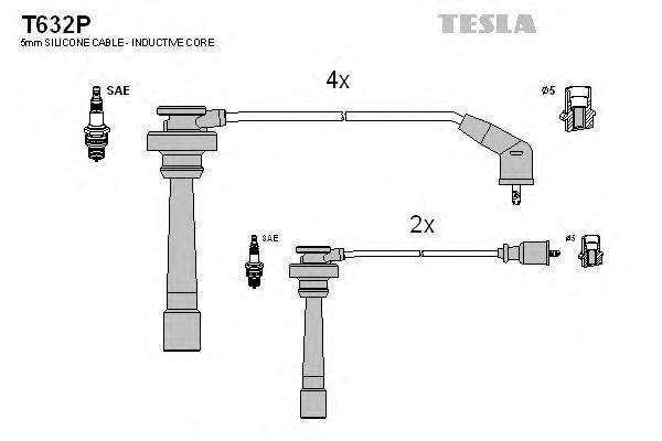 Провода высоковольтные TESLA T632P