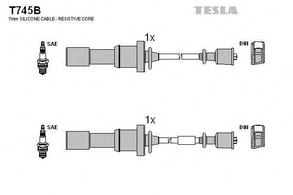 Провода высоковольтные комплект TESLA T745B