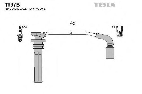 Провода высоковольтные комплект TESLA T697B