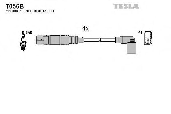 Провода высоковольтные комплект TESLA T056B